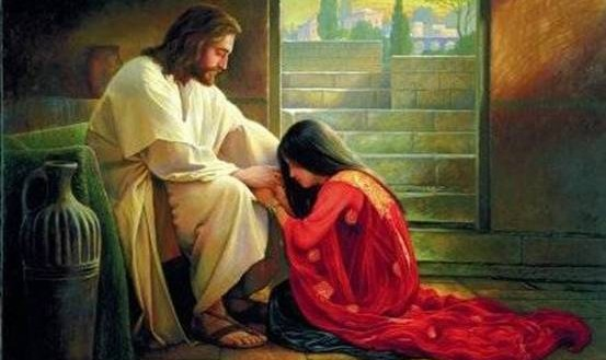Jesus healing a young woman~2
