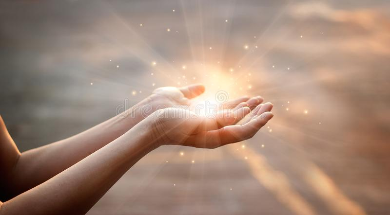 woman-hands-praying-sunset-background-woman-hands-praying-blessing-god-sunset-background-114060151
